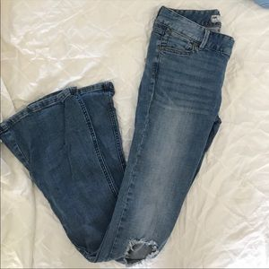 Free People flare jeans.